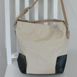 TARGET Handbag Shoulder Bag Tote Cream Brown